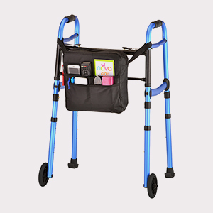 Folding Walker w/5″ Wheels