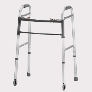 Folding Walker w/3″ Wheels